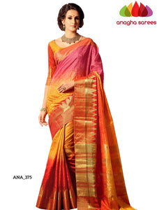 Embellished Raw Silk Designer Saree - Multicolor ANA_375