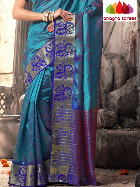 Anagha Sarees Raw Silk Saree Raw Silk Designer Saree - Blue  ANA_319