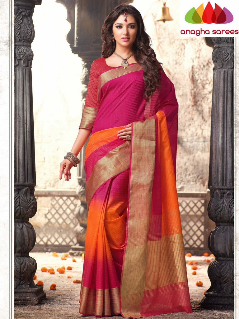 Anagha Sarees Raw Silk Saree Raw Silk Designer Saree - Multicolor  ANA_322