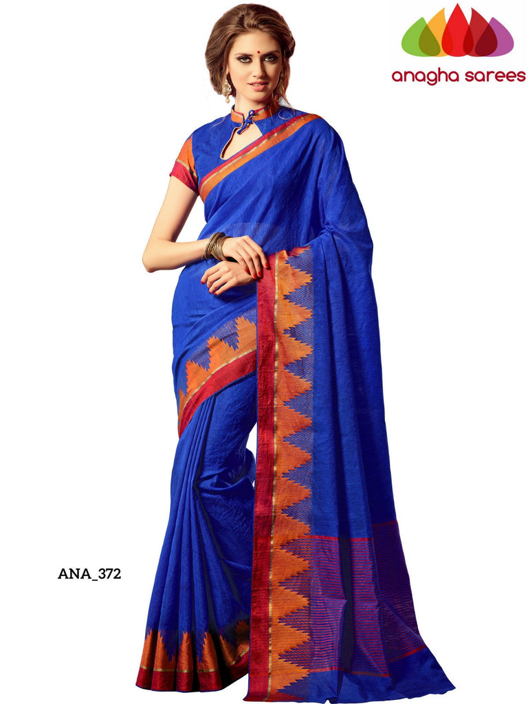Anagha Sarees Raw Silk Saree Woven Raw Silk Designer Saree - Royal Blue ANA_372