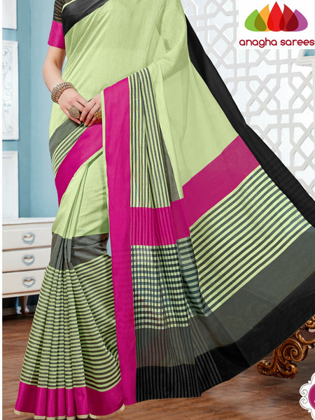 Anagha Sarees Rich Cotton Saree Rich Cotton Saree - Light Green ANA_275