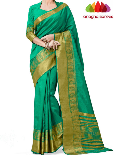 Anagha Sarees Semi-silk saree Trendy Fashion Silk Saree - Dark Sea Green  ANA_244