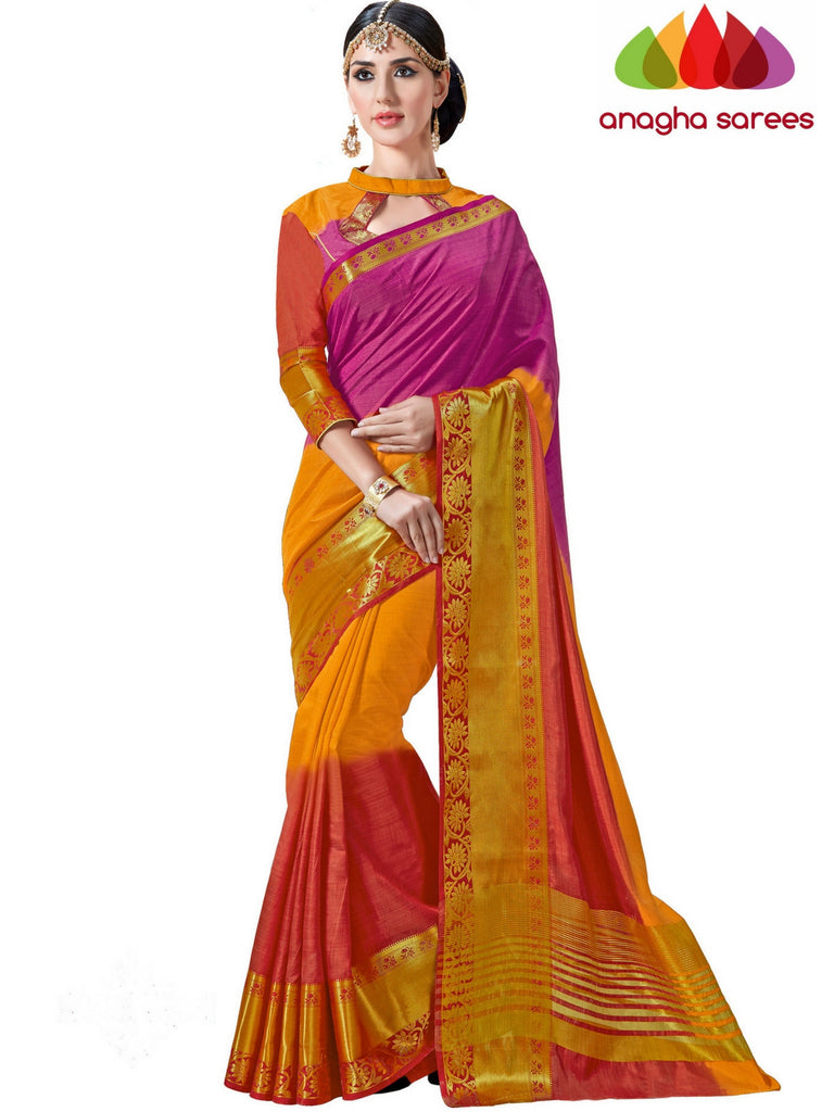 Anagha Sarees Semi-silk saree Trendy Fashion Silk Saree - Multicolor  ANA_240