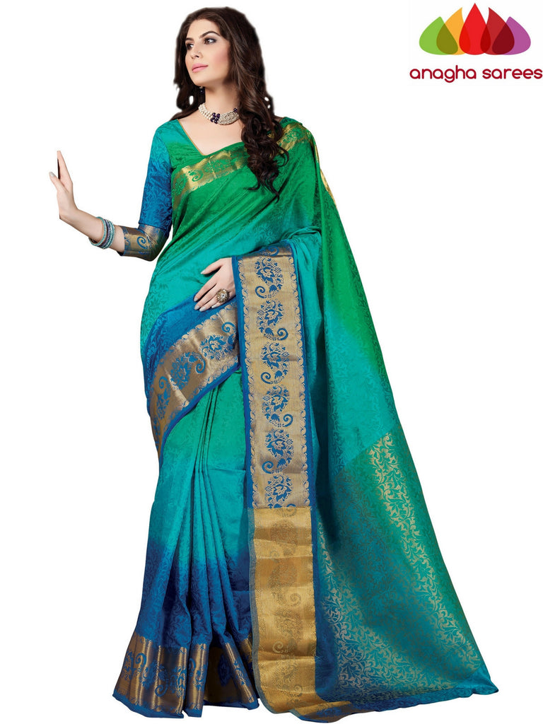 Trendy Fashion Silk Saree - Multicolor ANA_401 Anagha Sarees