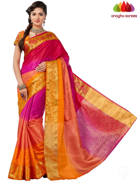 Anagha Sarees Semi-silk saree Trendy Fashion Silk Saree - Multicolor ANA_649