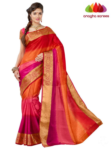 Anagha Sarees Semi-silk saree Trendy Fashion Silk Saree - Multicolor ANA_650