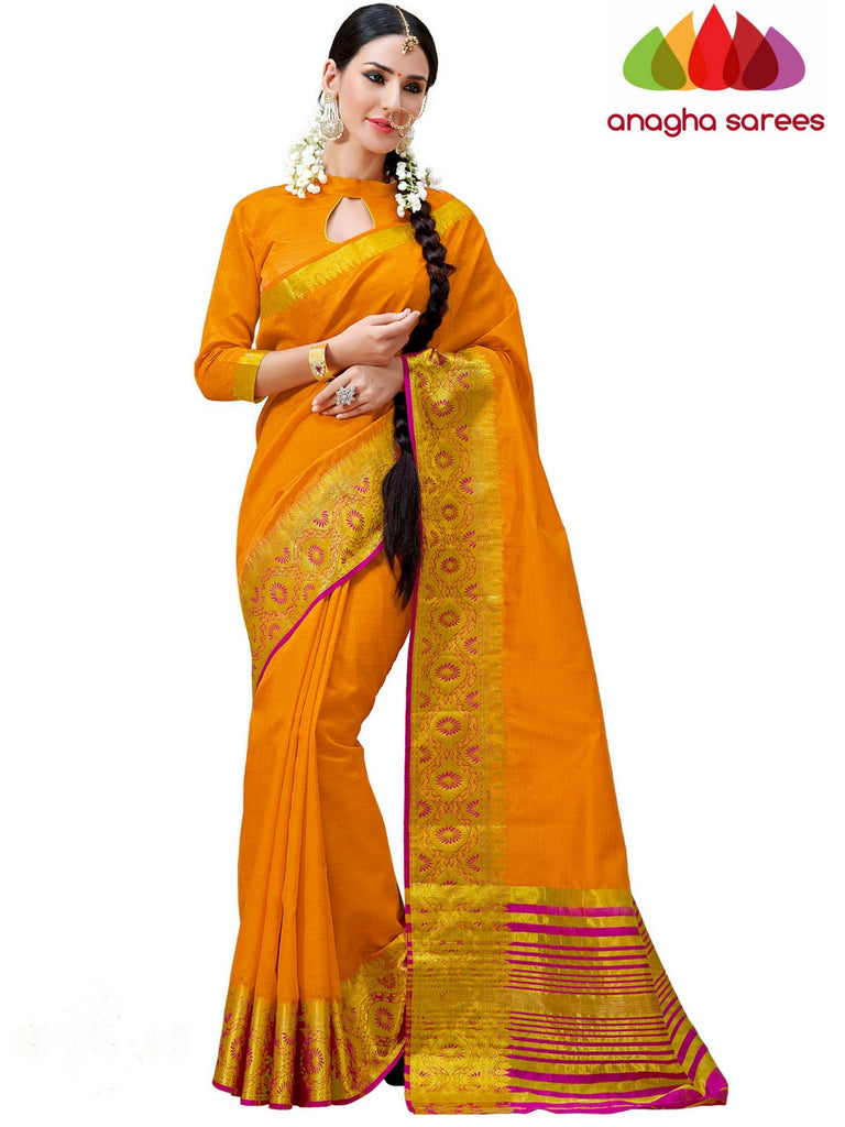 Trendy Fashion Silk Saree - Mustard ANA_241 Anagha Sarees
