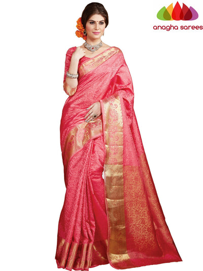 Anagha Sarees Semi-silk saree Trendy Fashion Silk Saree - Peach ANA_405