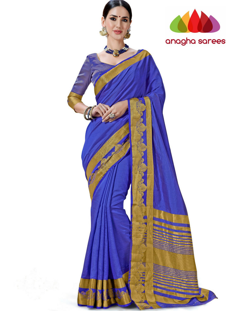Trendy Fashion Silk Saree - Royal Blue  ANA_242 Anagha Sarees