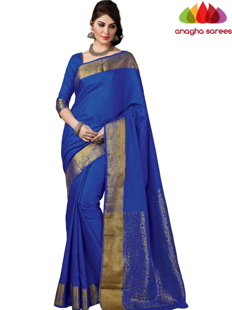 Trendy Fashion Silk Saree - Royal Blue ANA_407 Anagha Sarees