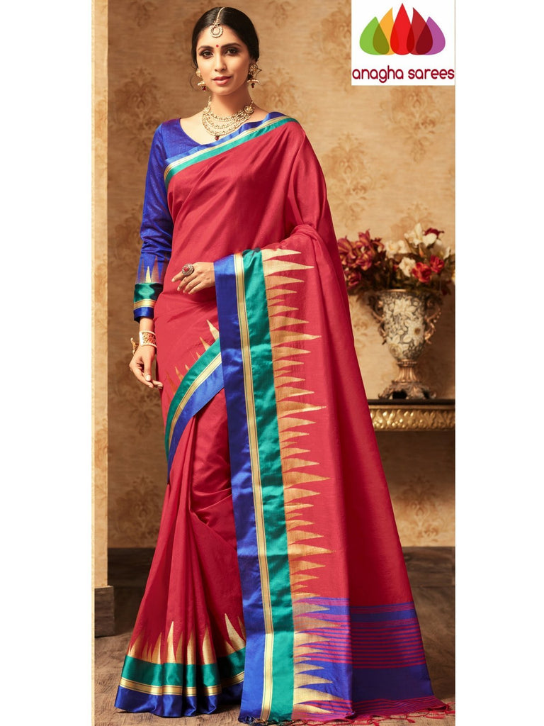 Trendy Fashion Silk Saree - Red : ANA_A41 Anagha Sarees