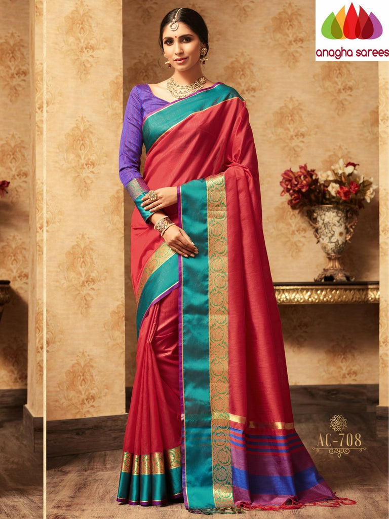 Trendy Fashion Silk Saree - Rust : ANA_A43 Anagha Sarees