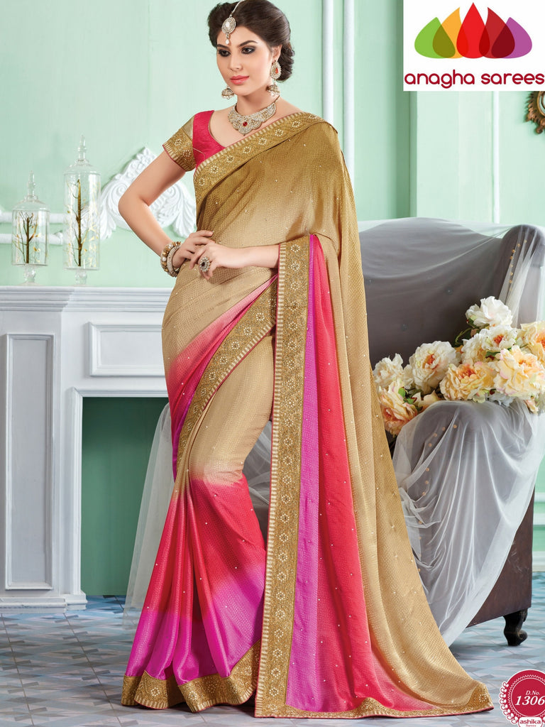 Rich Designer Shiffon Saree - Multicolor  ANA_295 Anagha Sarees