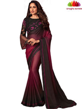 Anagha Sarees Shiffon Silk Length=6.2 metres  Width=46 inches / Burgundy Designer Shiffon Silk Saree - Burgundy : ANA_L47