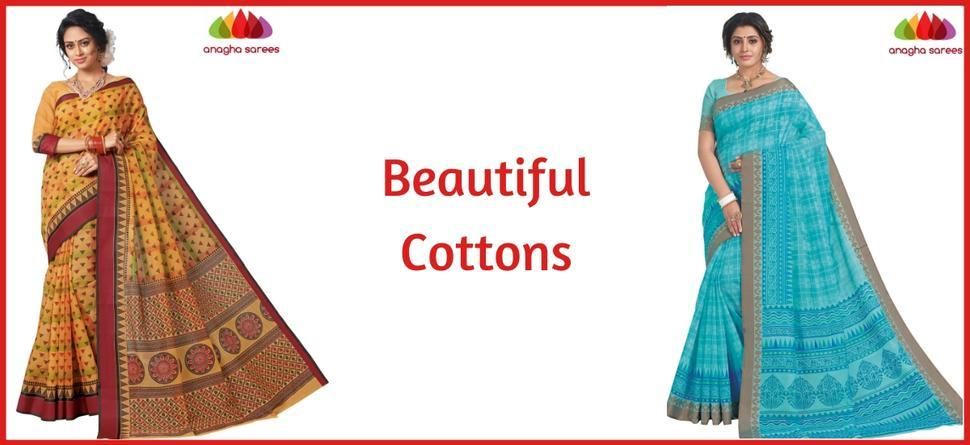 Rich cotton sarees - Anagha Sarees