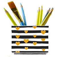ORGANIZE ANYTHING MAGBIN WRAPS GOLD STRIPE HEARTS