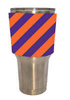 TUMBLER WRAPS RUGBY STRIPES ORANGE & PURPLE