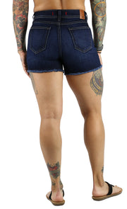 NEW! Amy High Rise Shorts Dark Wash