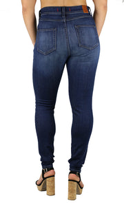 NEW! April Super High Rise Skinny Dark Destruction Wash