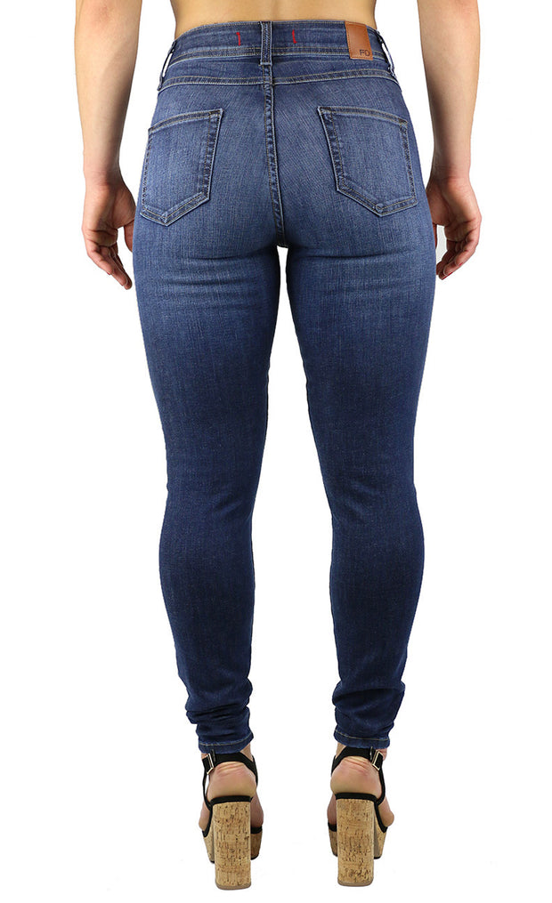 NEW!! April Super High Rise Skinny Medium Wash