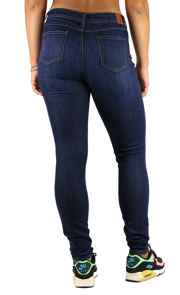 Emma Long Inseam High Rise Skinny Dark Destruction Wash