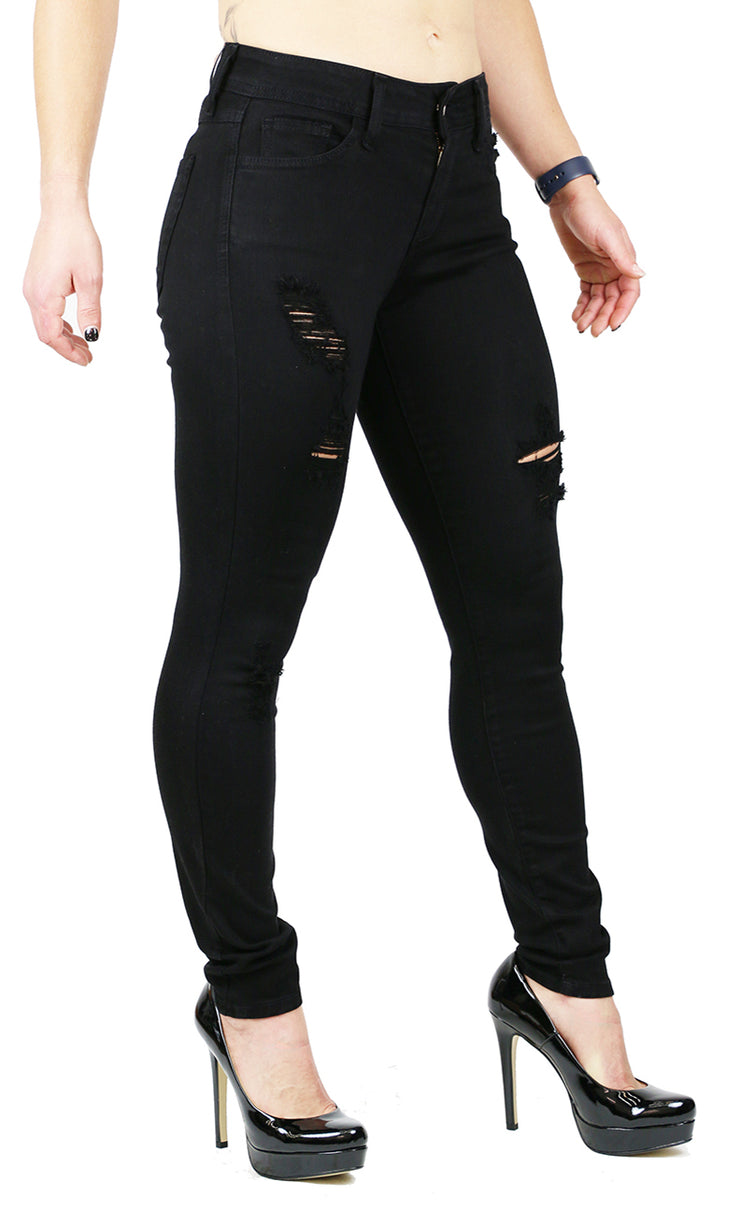 SARAH SKINNY DESTRUCTION BLACK (FD1026)