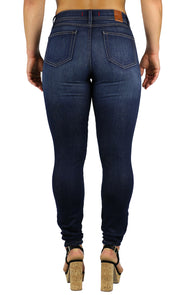 NEW! Nicole High Rise Skinny Dark Destruction Wash