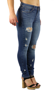 Nicole High Rise Skinny Medium Destruction Wash