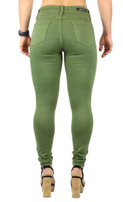 JULIE HIGH RISE SKINNY ARMY GREEN