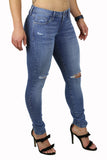 SARAH SKINNY (FD1056) DISTRESSED LIGHT WASH
