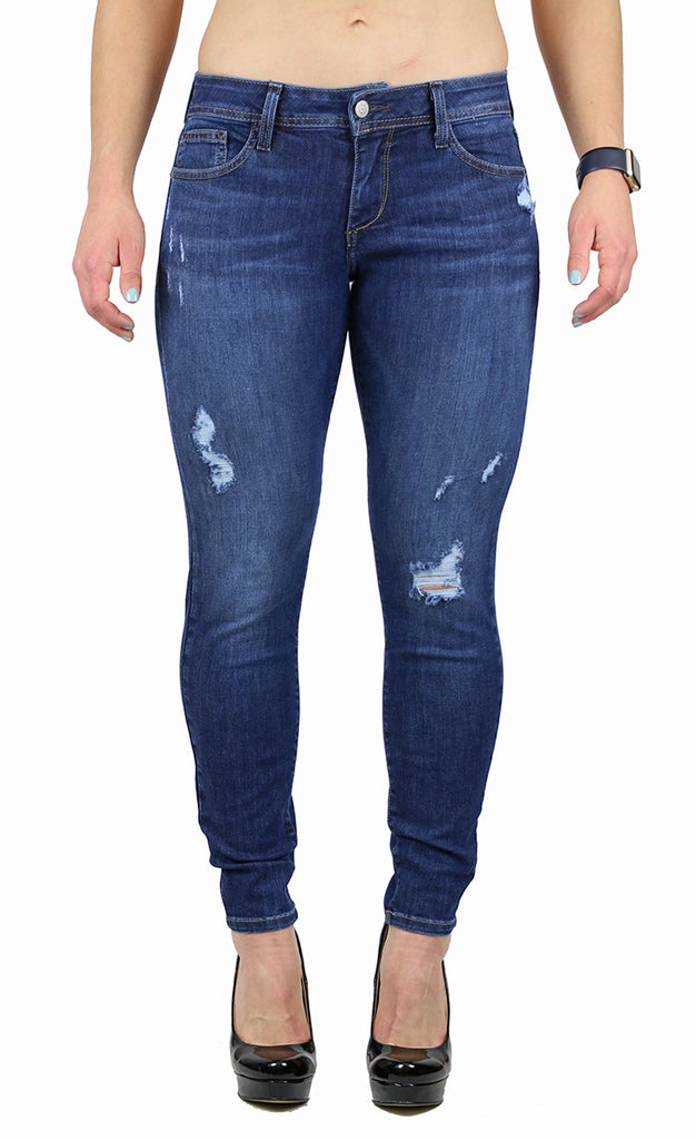 KAY PETITE SKINNY MEDIUM DESTRUCTION WASH