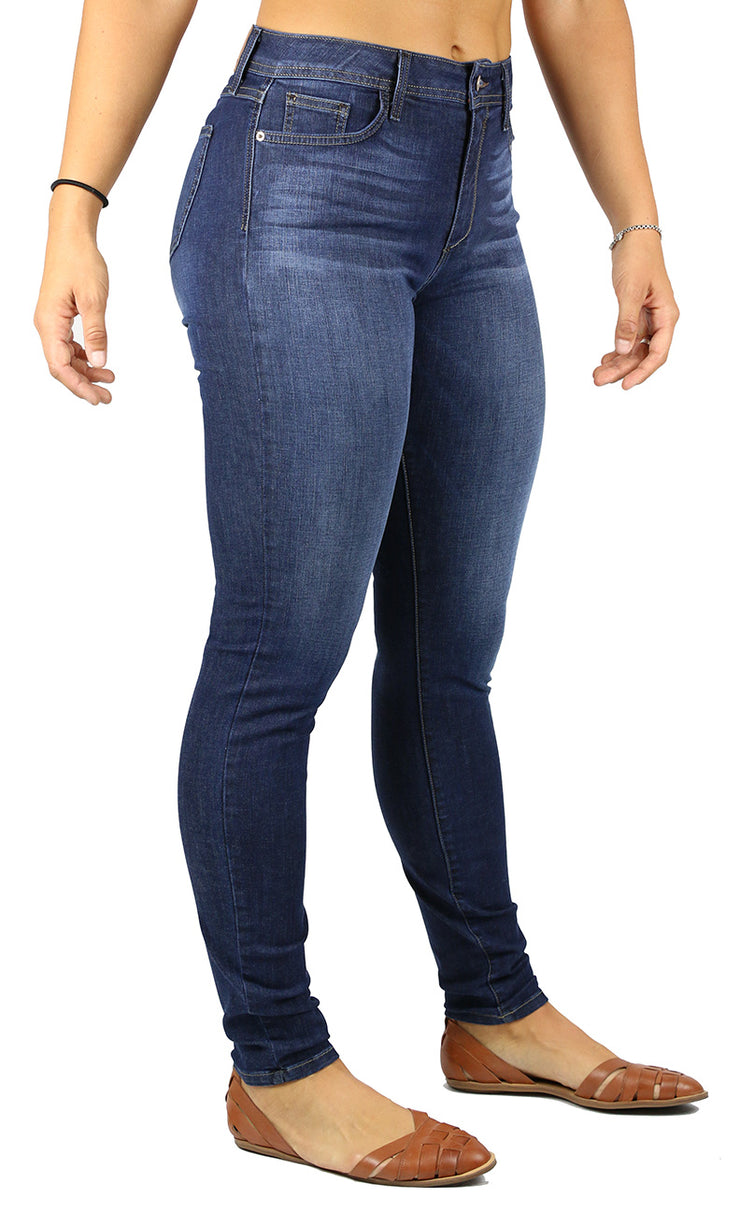 EMMA LONG INSEAM HIGH RISE SKINNY DARK