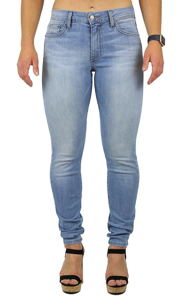 NICOLE HIGH RISE SKINNY LIGHT STONE WASH