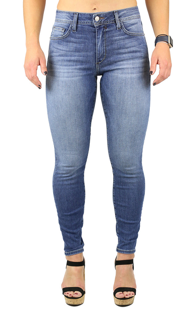 Mika High Rise Petite Skinny Medium Wash