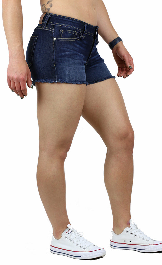 Daisie Shorts Dark Stone Wash
