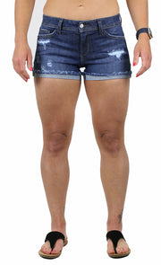 NATALIE SHORTS DARK WASH
