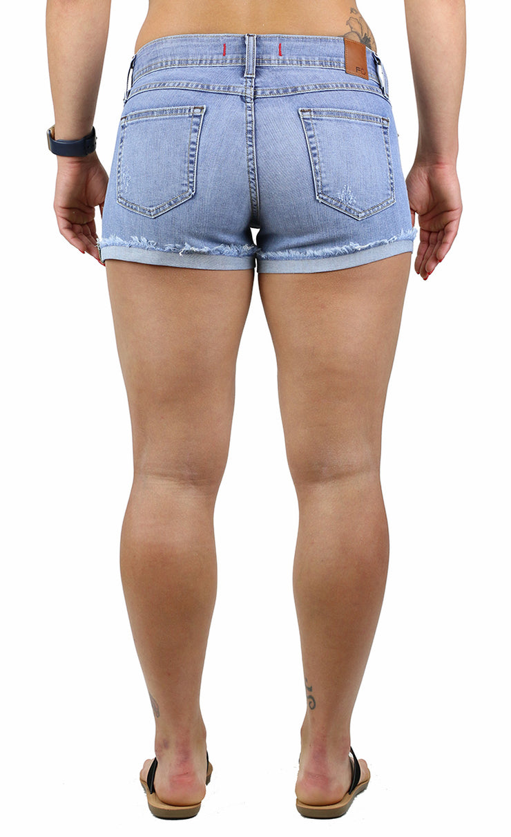 NATALIE SHORTS LIGHT WASH