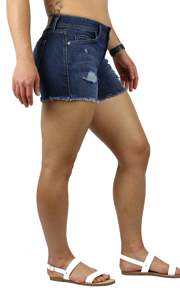 Janyce Shorts Dark Wash