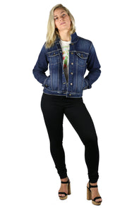 NEW! Halie Denim Jacket Dark Wash
