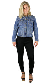 NEW! Halie Denim Jacket Medium Wash