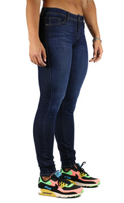 Helen Long Inseam Midrise Skinny Dark Stone Wash