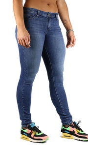 Helen Long Inseam Skinny Medium Stone