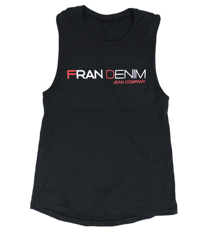 FRAN DENIM MUSCLE TANK
