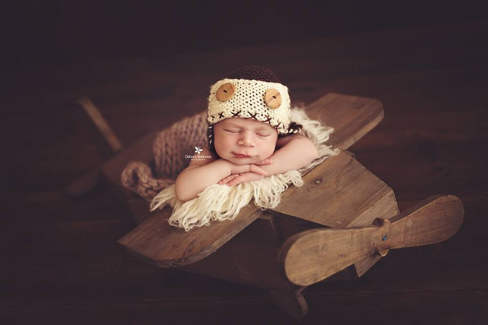 Vintage Airplane Newborn Photography Prop