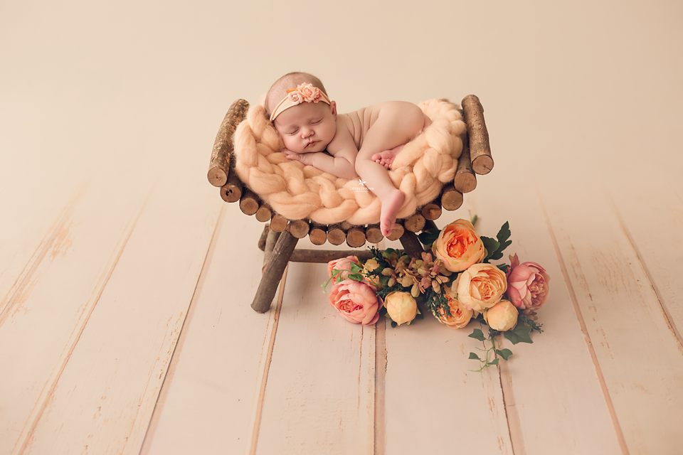 Curved Rustic Bench-Newborn Photography Props