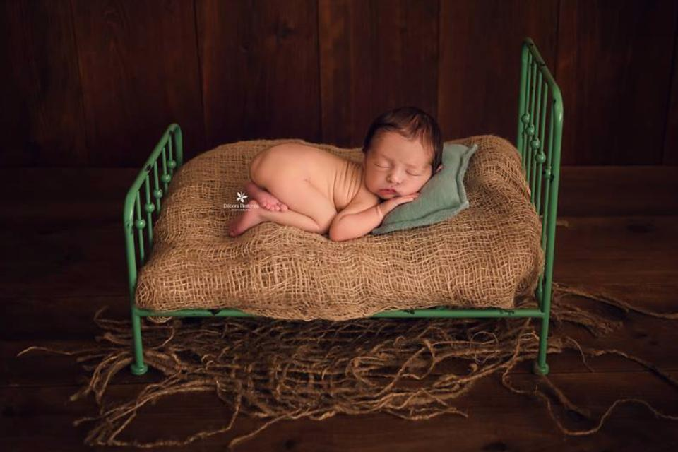 Vintage Bed - Green Model 2-Newborn Photography Props