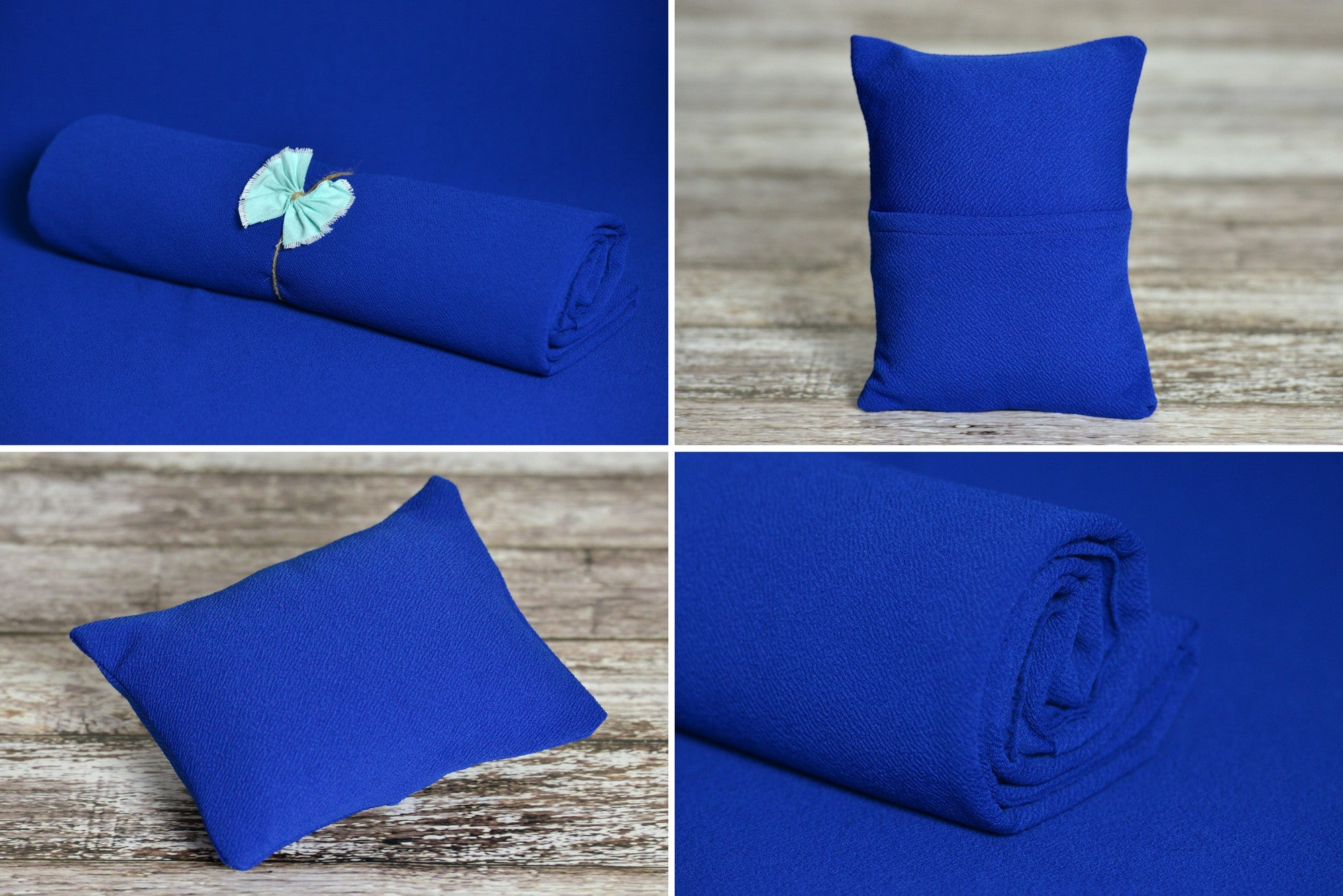 Matching Mini Pillow with Cover AND Bean Bag Fabric - Textured - New Navy-Newborn Photography Props