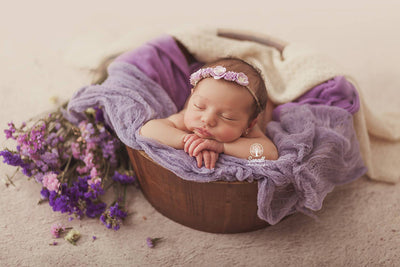 vintage bucket prop for newborn photography