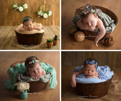 Rustic Bucket - 14in - Brown-Newborn Photography Props
