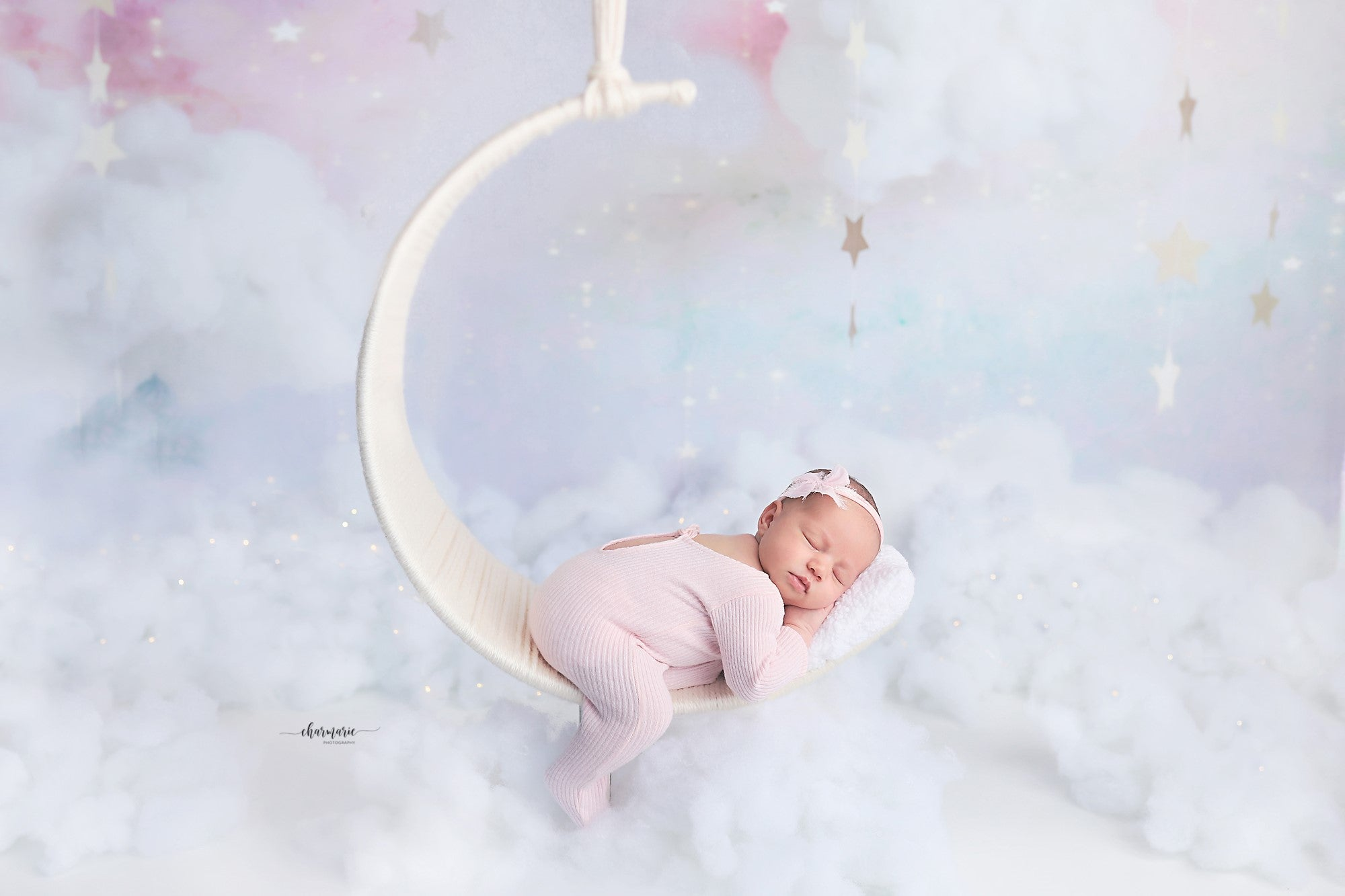 Moon Swing prop for newborn photography